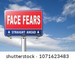 confront your worst fears be... | Shutterstock . vector #1071623483