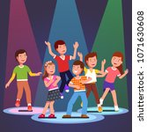 teen kids boys and girls... | Shutterstock .eps vector #1071630608