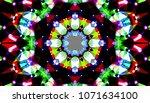 geometric design  mosaic of a... | Shutterstock .eps vector #1071634100