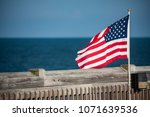 Small American Flag On A...
