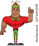 a cartoon xmas elf looking... | Shutterstock .eps vector #1071641039