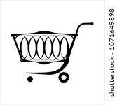 shopping cart design vector art ... | Shutterstock .eps vector #1071649898