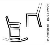 chair icon design set vector... | Shutterstock .eps vector #1071649904