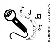 karaoke microphone icon vector...   Shutterstock .eps vector #1071650240