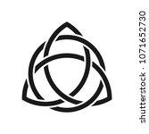 triangle decorative symbol.... | Shutterstock .eps vector #1071652730