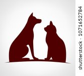 dog and cat. logo of the... | Shutterstock . vector #1071652784