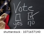 vote sign with no checkbox...   Shutterstock . vector #1071657140