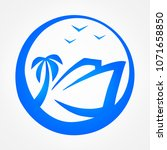 ship logo. raster image. | Shutterstock . vector #1071658850