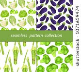 four seamless fabric to send...   Shutterstock .eps vector #1071659474