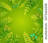 season spring and summer leaves ... | Shutterstock .eps vector #1071662630