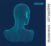 ai digital brain. artificial... | Shutterstock .eps vector #1071663596