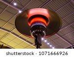 gas terrace heater or patio... | Shutterstock . vector #1071666926