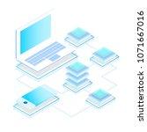 data storage servers ... | Shutterstock .eps vector #1071667016