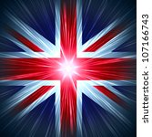 british union jack national... | Shutterstock . vector #107166743