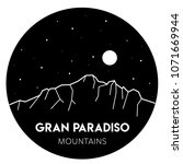mount gran paradiso  the graian ...   Shutterstock .eps vector #1071669944