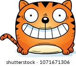 a cartoon illustration of a cat ... | Shutterstock .eps vector #1071671306