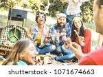 group of happy friends having...   Shutterstock . vector #1071674663