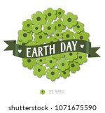 22 april. earth day. abstract... | Shutterstock .eps vector #1071675590