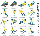 winter sport ski snowboard... | Shutterstock .eps vector #1071677159