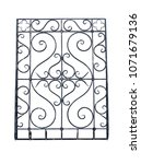 an old wrought iron lattice.... | Shutterstock . vector #1071679136