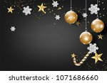 paper art of merry christmas... | Shutterstock .eps vector #1071686660