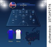 team iceland soccer jersey or... | Shutterstock .eps vector #1071691976