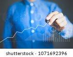 business data analysis... | Shutterstock . vector #1071692396