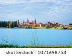 cityscape of the old city of... | Shutterstock . vector #1071698753