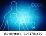 2d rendering stethoscope | Shutterstock . vector #1071701630