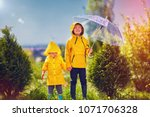 happy kids  brother having fun... | Shutterstock . vector #1071706328