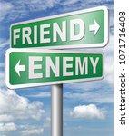 friend enemy best friends or...   Shutterstock . vector #1071716408