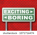 exciting or boring go for... | Shutterstock . vector #1071716474