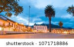 zipaquira colombian town square | Shutterstock . vector #1071718886