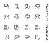 line icon set of smartphone...   Shutterstock .eps vector #1071719969