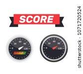 guage icon. credit score... | Shutterstock .eps vector #1071720524