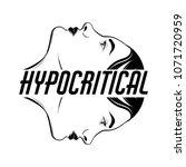 hypocritical. vector placard... | Shutterstock .eps vector #1071720959