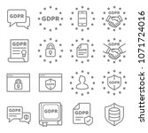 gdpr data privacy vector icon... | Shutterstock .eps vector #1071724016