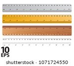rulers and ruler size... | Shutterstock .eps vector #1071724550