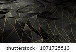 3d rendering abstract polygonal ... | Shutterstock . vector #1071725513