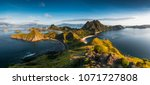 top view of 'padar island' in a ... | Shutterstock . vector #1071727808