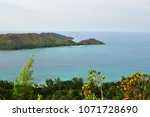 aerial view on the coastline of ... | Shutterstock . vector #1071728690
