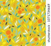 lovely colorful vector seamless ...   Shutterstock .eps vector #1071734669