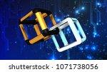 technology and blockchain... | Shutterstock . vector #1071738056