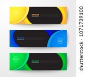 modern geometrics banners web... | Shutterstock .eps vector #1071739100