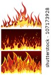 set of fire vector backgrounds...