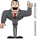 a cartoon businessperson with... | Shutterstock .eps vector #1071741386