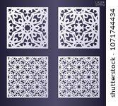 laser cut ornamental square... | Shutterstock .eps vector #1071744434