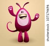 vector funny egg monster 04 | Shutterstock .eps vector #107174696