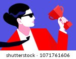 abstract portrait of business... | Shutterstock .eps vector #1071761606