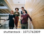 group of diverse coworkers... | Shutterstock . vector #1071762809